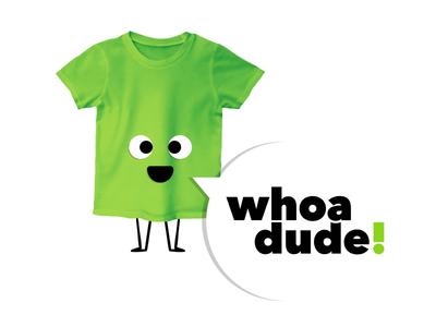 Whoa dude! logo illustration clothing kids branding logo