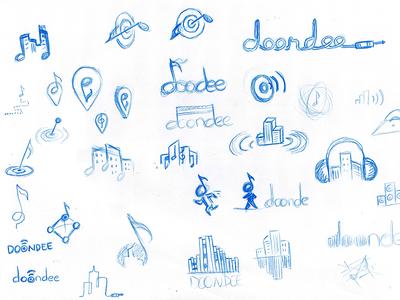 Rough logo Sketches sketch logo blue pen music identity