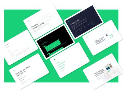 7r.ventures venture capital green white minimalist responsive website design