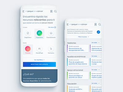 Mi Peque tiene Cáncer cancer health responsive website design