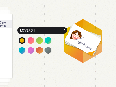 Options editing colorful hexagon yellow edit choose color cards touch ipad