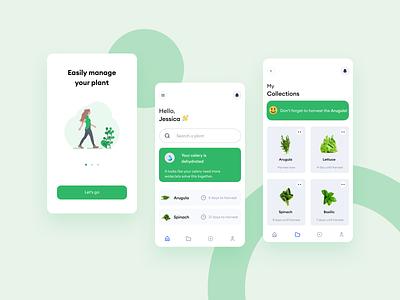 Plants Mobile app design ui