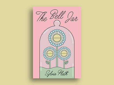 """The Bell Jar"" Cover creative mid century 60s 50s type design retro vintage typography illustrator illustration redesign cover design book cover book design graphic design"