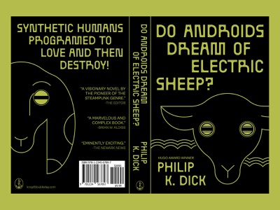 Do Androids Dream of Electric Sheep Book Cover graphic design design pop culture creative illustrator illustration type design dystopian android sci-fi futuristic typography blade runner novel redesign cover design cover book cover book