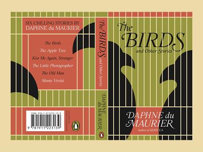 'The Birds' Book Cover alfred hitchcock the birds daphne du maurier literature illustration typography graphic design design vintage retro pop culture creative cre redesign cover design cover book cover book
