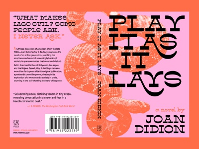 Play It As It Lays Book Cover creative cover design pop culture novel retro vintage joan didion type design typography cover redesign book cover book design graphic design