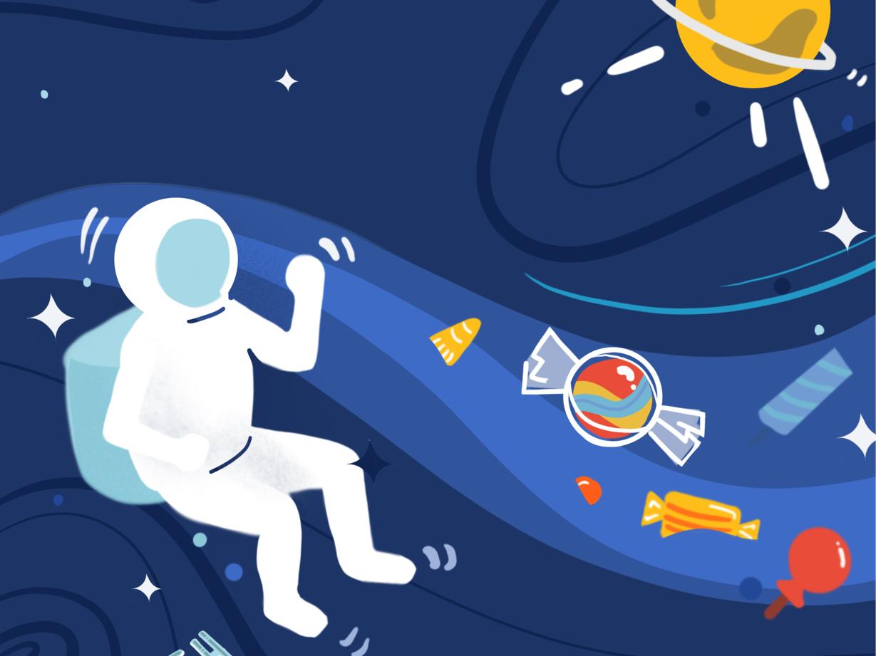 Token airdrop illustration enterprise software illustration