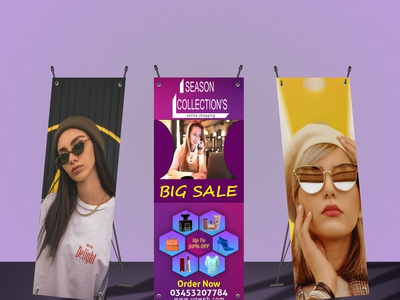 standee banner ux ui logo stationery design graphic design branding standee banner