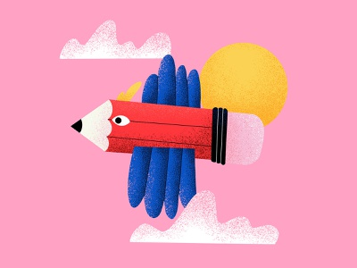 Flight creative children illustration procreate kids illustration fly flight pink sky bird pencil creativity illustration art illustration