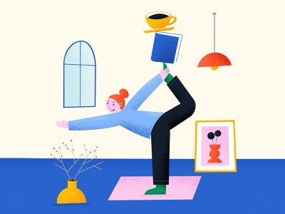 Balance people human health workout balanced exercise meditation geometric coffee peace calm wellbeing yoga pose balance yoga illustration art illustration
