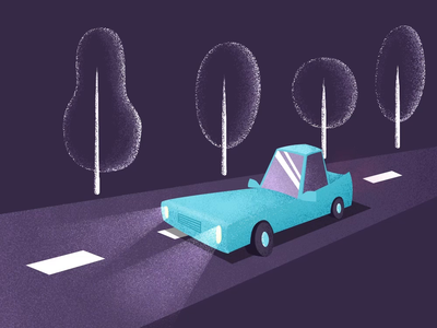 Night drive animation
