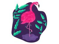 Leafy flamingo