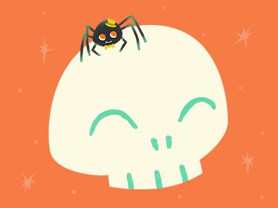 Day 31 Skull spider halloween 31daysofskulls skull
