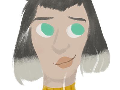 Girl #3 mug yellow woman cozy photoshop illustration girl