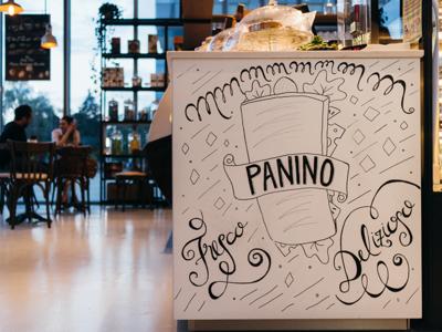 Bruno Panino local restaurant illustration lettering marker posca sandwich bread panino bruno