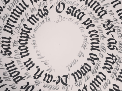 Romanian Love Poem handwriting writing calligram lettering ink calligraphy love song poem romanian