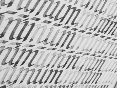 Minimum Calligraphy Sheet pen parallel pen minimum practice sheet ink italic cancellaresca calligraphy