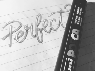 Perfect Lettering with Shadows perfect letters shadow lettering 3d lettering marker posca lettering