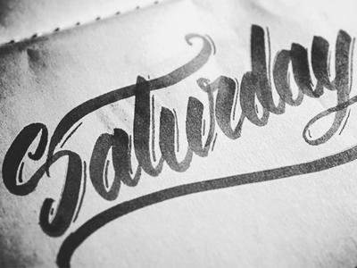Saturday Lettering week paper letters script saturday lettering