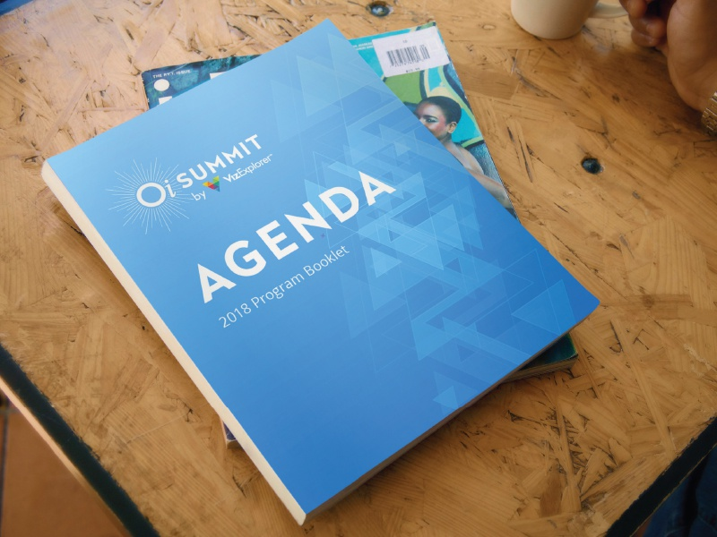 summit agenda booklet cover by scott pokrant dribbble