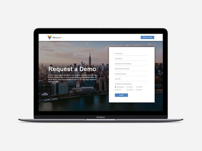 Landing Page Design hubspot minimal form marketing page landing web