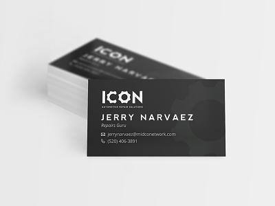 Icon Automotive Business Cards machine cog gear icon logo brand mechanic automotive