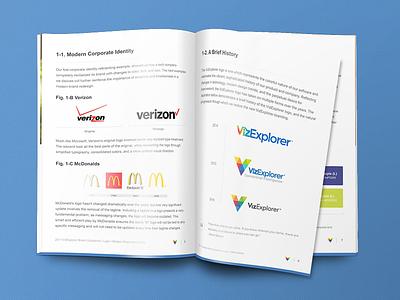 Brand Guide software corporate document redesign logo creative guide brand rebrand