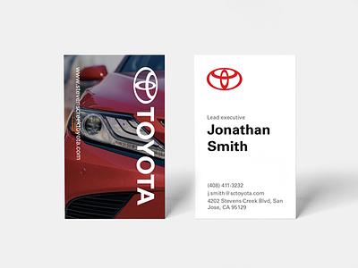 Toyota Business Cards automotive minimal modern corporate card business toyota
