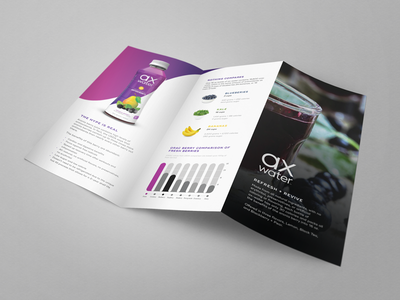 Trifold Brochure Inside trifold brochure product drink sports health fitness