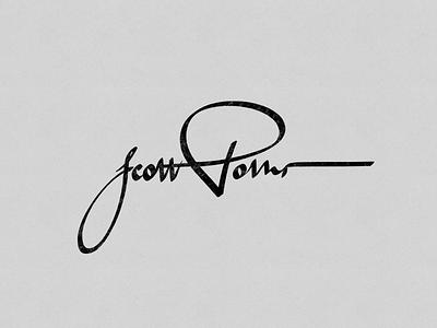 Signature letter signature script typography