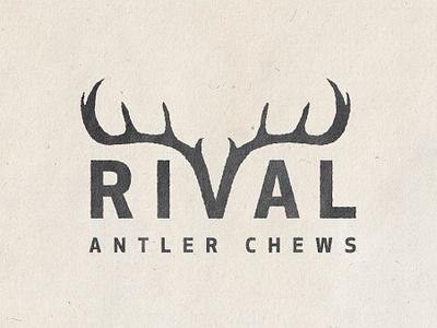 Rival Logo texture logo outdoors dog chew rival antler