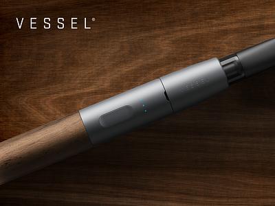 Vessel - Wood advertisement product cannabis pen vape vaporizer wood vessel