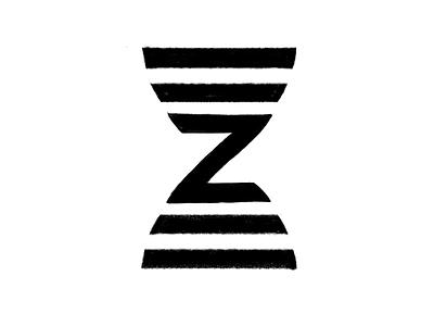 Z Hourglass Mark Sketch app software technology letter n helix brand modern science time mark logo hourglass letter z