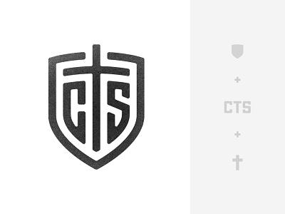 CTS Mark defense badge police tactical christian s t c monogram security church cross shield logo