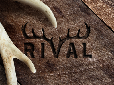 Rival Antler Chews Logo natural brand mockup food pet consumer product retro wood hipster nature deer horns antlers logo chews antler rival
