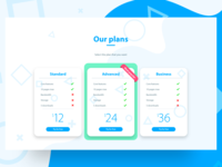 Plan prices page