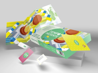 Present Time - box tabletop table game art design branding ui hand vector photoshop drawing illustration draw