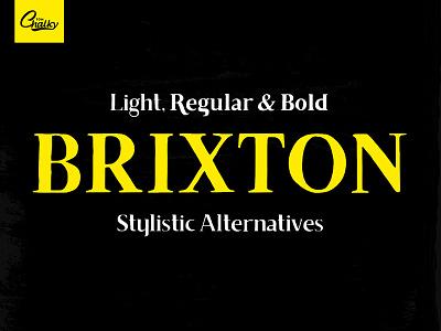 Free Font - Brixton decorative ornaments ornaments drawn font hand drawn font stylistic alternatives creative font display font font download free font
