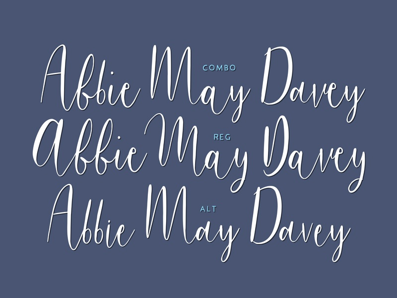 New 'Bouncy Castle' Font calligraphy typography type font