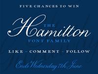 Hamilton Font Giveaway - Instagram