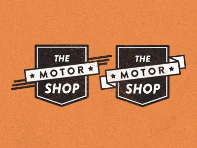 """The Motor Shop"" Badge Design emblem badge design badge logo logo design"