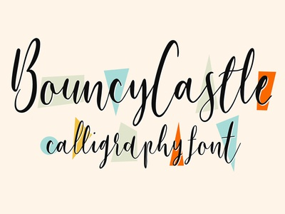 Free Bouncy Castle Modern Calligraphy Font type design font design free font family free typeface typeface type handcrafted handwritten font free font typography calligraphy modern calligraphy