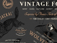 Vintage Font Pack - Coming Soon