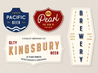Buckwheat Font Family in Action vintage label beer whisky brewery logo lettering typography type font