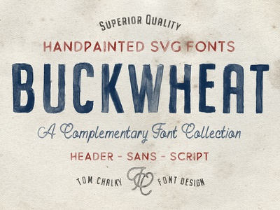 Buckwheat - A Collection of Handpainted Opentype SVG Fonts handlettering lettering typography svg fonts color font colour font colour fonts color fonts opentype svg svg
