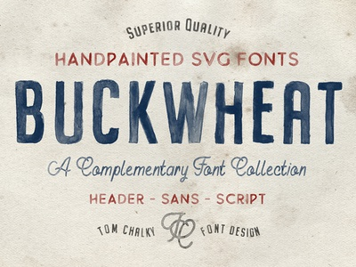 Buckwheat - A Collection of Handpainted Opentype SVG Fonts