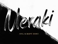 Meraki - An SVG Script Font