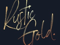 Rustic Gold - New SVG Font in Action