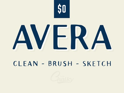 Avera Font Collection - 5 Free Fonts for Commercial Use handlettering lettering typography hand made font handcrafted font commercial font hand drawn font free font free fonts