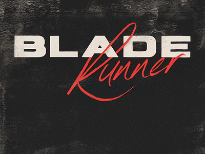 Blade Runner 1980 type 1980s 80s movie logo logo design typography type design type font